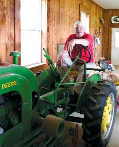 Steve Troxler on tractor