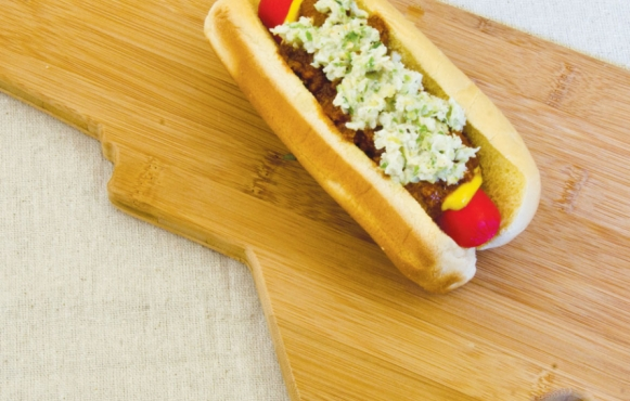 hot dog slaw