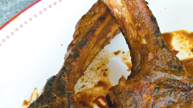 Pumpkin Brined Pork Chop with Molasses BBQ