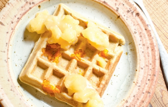 Sweet Potato & Coconut Milk Waffles