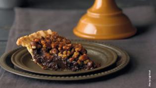 slice of black walnut pie